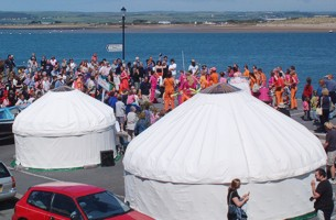 Festival Yurts on Appledore Quay - image copyright Bruce Cramp