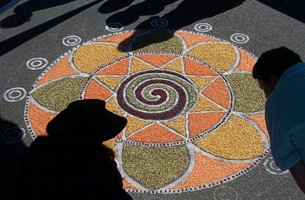 Edible Mandala on The Quay - image copyright Roy Riley (www.royriley.co.uk)